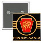 Logotipo, negro y oro del ferrocarril de Pennsylva Pins