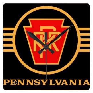 Logotipo, negro y oro del ferrocarril de Pennsylva Relojes
