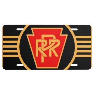 Logotipo, negro y oro del ferrocarril de placa de matrícula