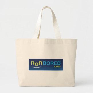 Logotipo nonBored azul Bolsa Tela Grande