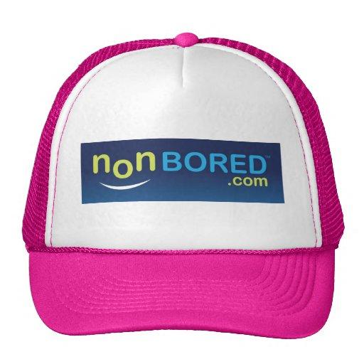 Logotipo nonBored azul Gorras De Camionero