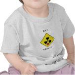 Logotipo nuclear anti japonés camiseta