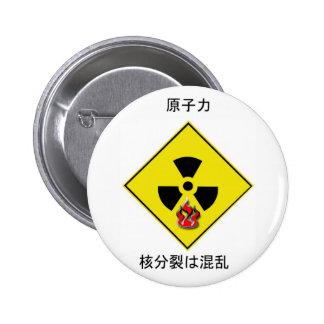 Logotipo nuclear anti japonés pins