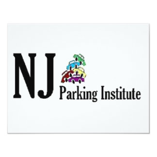 """Logotipo oficial del instituto del estacionamiento invitación 4.25"""" x 5.5"""""""