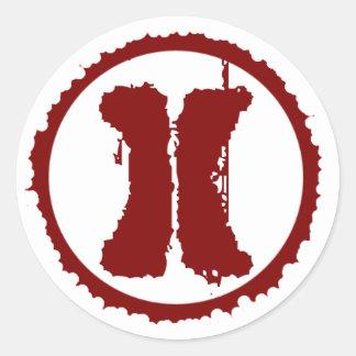 Logotipo oficial pegatina redonda