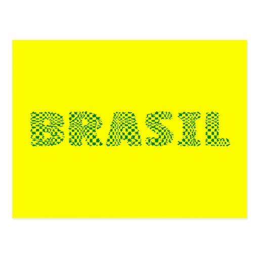Logotipo óptico del Brasil - Forest Green brasileñ Postales