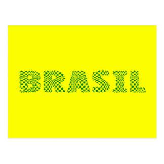 Logotipo óptico del Brasil - Forest Green Tarjeta Postal
