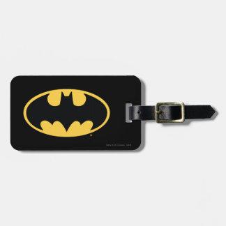 Logotipo oval del símbolo el | de Batman Etiquetas Para Maletas