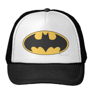 Logotipo oval del símbolo el | de Batman Gorro