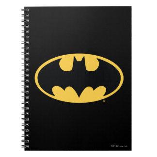 Logotipo oval del símbolo el | de Batman Libreta