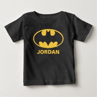 Logotipo oval del símbolo el   de Batman Playera De Bebé