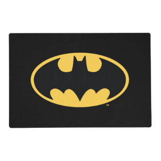 Logotipo oval del símbolo el | de Batman Salvamanteles