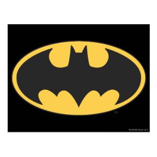 Logotipo oval del símbolo el   de Batman Tarjeta Postal
