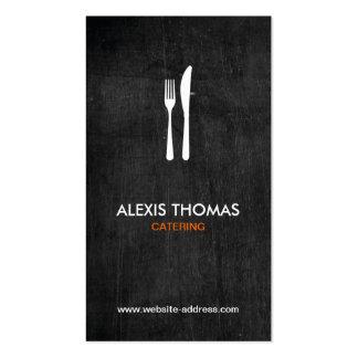 Logotipo para abastecer, cocinero, restaurante de plantillas de tarjetas personales
