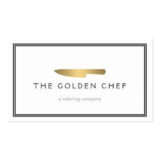 Logotipo para abastecer, restaurante del cuchillo  tarjetas de visita