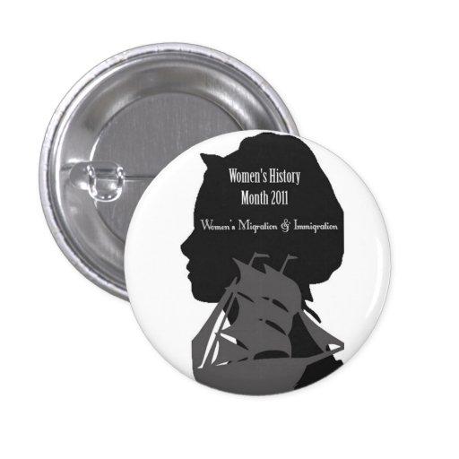 logotipo para mujer del mes de la historia pin