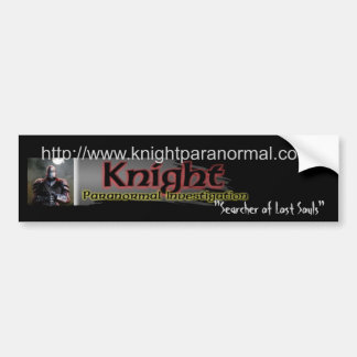 Logotipo paranormal de la investigación (KPI) del  Etiqueta De Parachoque