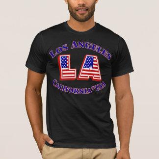 Logotipo patriótico de Los Ángeles los E.E.U.U. Playera