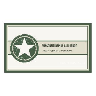 Logotipo patriótico del Grunge de la estrella del Tarjetas De Visita