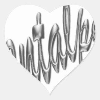 logotipo .pdf del orientalpearl pegatina en forma de corazón
