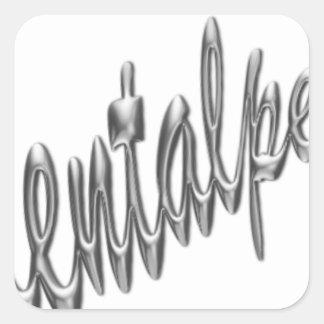 logotipo .pdf del orientalpearl pegatina cuadrada