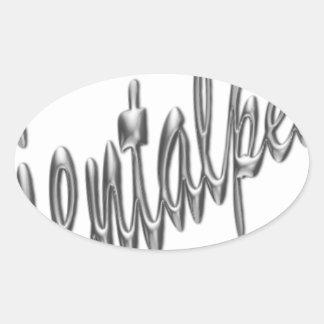 logotipo .pdf del orientalpearl pegatina ovalada