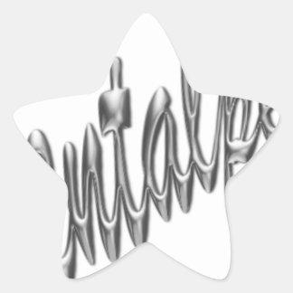 logotipo .pdf del orientalpearl pegatina en forma de estrella