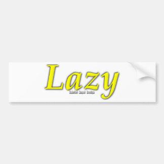 Logotipo perezoso pegatina de parachoque