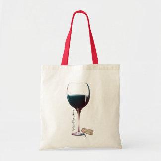 Logotipo personalizado arte de la copa de vino bolsa tela barata