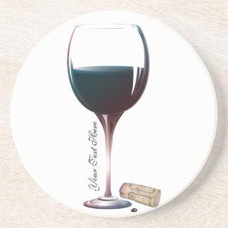 Logotipo personalizado arte de la copa de vino posavasos personalizados