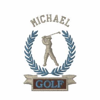 Logotipo personalizado de la bandera del golf camiseta polo