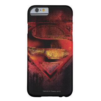 Logotipo pintado el | del S-Escudo del superhombre Funda Barely There iPhone 6