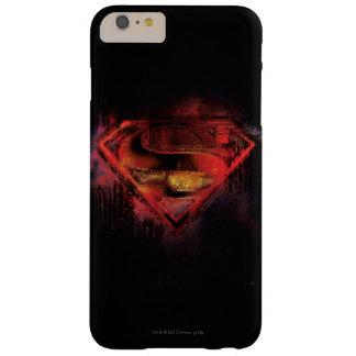 Logotipo pintado el | del S-Escudo del superhombre Funda De iPhone 6 Plus Barely There