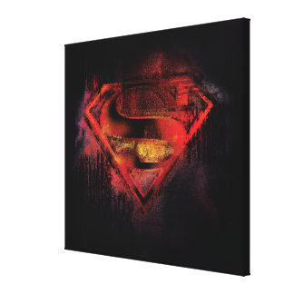 Logotipo pintado el | del S-Escudo del superhombre Lienzo Envuelto Para Galerias