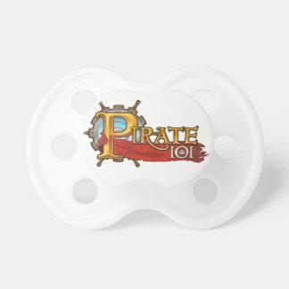 Logotipo Pirate101 Chupete De Bebe