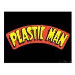 Logotipo plástico del hombre tarjeta postal
