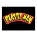 Logotipo plástico del hombre tarjeton