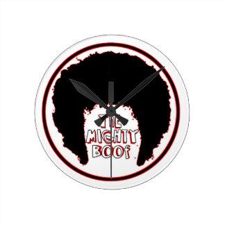 Logotipo poderoso de Boof Reloj De Pared