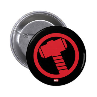 Logotipo poderoso del Thor Pin Redondo De 2 Pulgadas