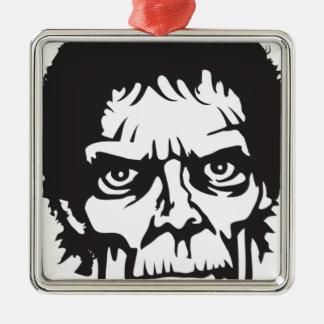 Logotipo principal del zombi ornamento para arbol de navidad