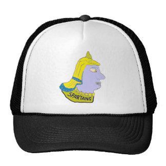 Logotipo principal espartano amarillo/azul/Puce Gorros