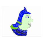 Logotipo principal espartano púrpura, oscuro y ver postales