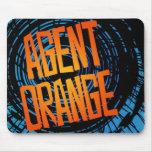 "Logotipo punky Mousepad de Agent Orange ""SpinArt"""
