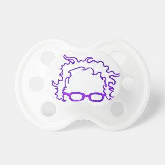 Logotipo púrpura de Bernie Berna de la elección de Chupetes