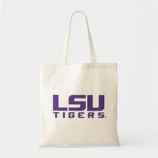 Logotipo púrpura de los tigres de LSU Bolsa Tela Barata