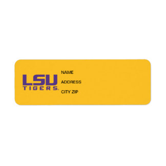 Logotipo púrpura de los tigres de LSU Etiqueta De Remite