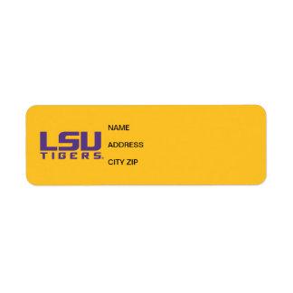 Logotipo púrpura de los tigres de LSU Etiqueta De Remitente