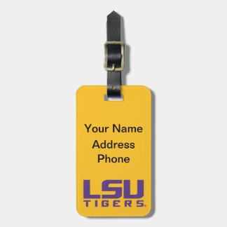 Logotipo púrpura de los tigres de LSU Etiquetas Para Equipaje