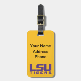 Logotipo púrpura de los tigres de LSU Etiquetas Para Maletas