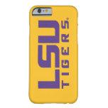 Logotipo púrpura de los tigres de LSU Funda Barely There iPhone 6
